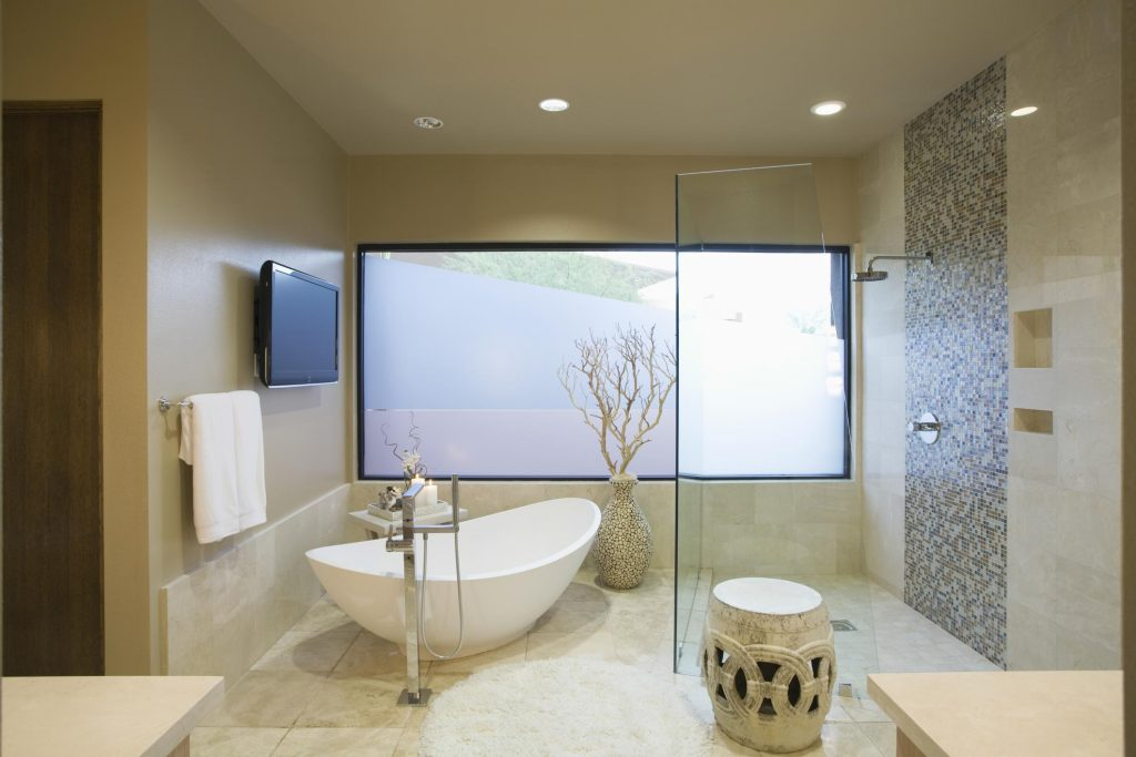 completed bathroom remodelling project