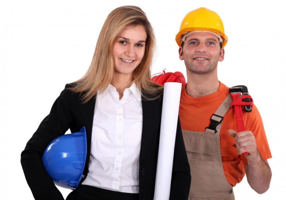 remodeling worker posing for photo